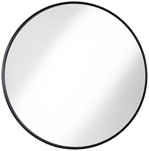 Junia Matte Black 34' Round Wall Mirror