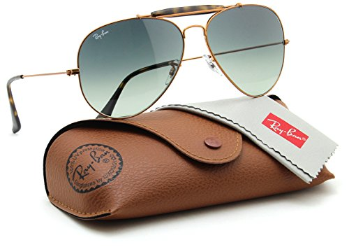 Ray-Ban RB3029 197/71 OUTDOORSMAN II Grey Gradient Aviator Sunglasses - Ban Boyfriend Ray