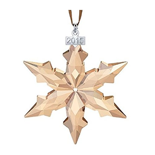 Crystal 2015 SCS Member Exclusive Golden Shadow Christmas Ornament Large by Crystal