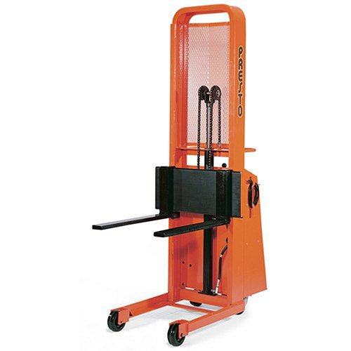 Presto Battery-Powered Stackers - 1000-Lb. Capacity - 5-1/4 -52'' Lift Height - 25'' Adjustable Forks by Presto