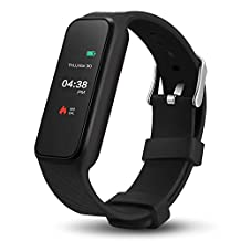 1.06 inch Color Touch Screen Fitness Bracelet Support iOS 7.0+ Android 4.3 + BT 4.0 IP67 Smart Watch Black