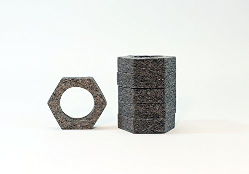 Felt napkin ring hexagon