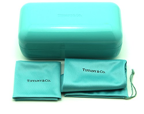 Tiffany & Co. Sunglass Eyeglass Large Hard Case w/Cleaning Cloth and Soft Pouch