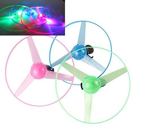 TYKusm Child Kids LED Light Flash Flying Saucer Helicopter Toy (Random Color)