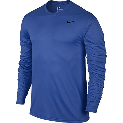 Nike Mens Legend 2.0 Long Sleeve Dri-Fit Training Shirt Royal Blue/Black 718837-480 Size 2X-Large