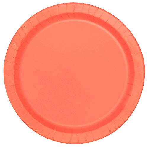 Coral Paper Plates, 16ct