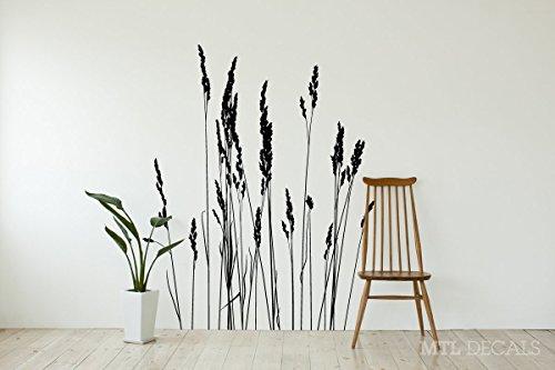 Reeds Wall Decal, Grass Wall Vinyl Sticker, Living Room Decor 50