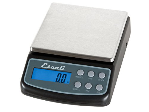 - Escali L600 L-Series High Precision Professional Lab Scale, Six Units of Measurements, Capacity 600 gram / Resolution 0.01 gram, Tare Feature, LCD Digital Display, Black