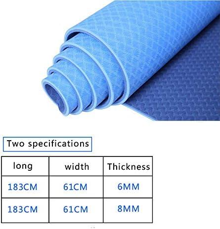 WSNH888 Tapete De Yoga Acolchado TPE Grande con Empuñadura para Pilates/Ejercicio / Gimnasia - Azul/Morado / Verde/Rosa,Blue,183 * 61 * 0.6: Amazon.es: Deportes y aire libre