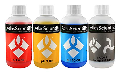 (Atlas Scientific pH 4.00, 7.00, 10.00, pH Electrode Storage Calibration Solution 125ml - 4oz (Pack of 4))