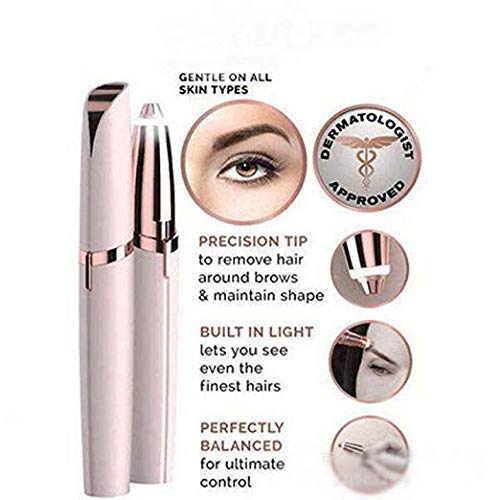 Electric Flawless Brows Eyebrow Hair Remover, Women's Painless Hair Remover for Nose, Eyebrow Hair, Face Lip, Flawlessly Brow Hair Remover Arishine(no battery) by Arishine (Image #5)