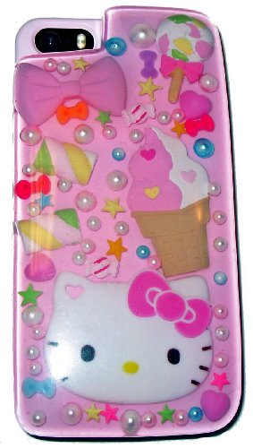 Sanrio Hello Apple Kitty (Hello Kitty Sweets & Pearls iPhone 5 Case)