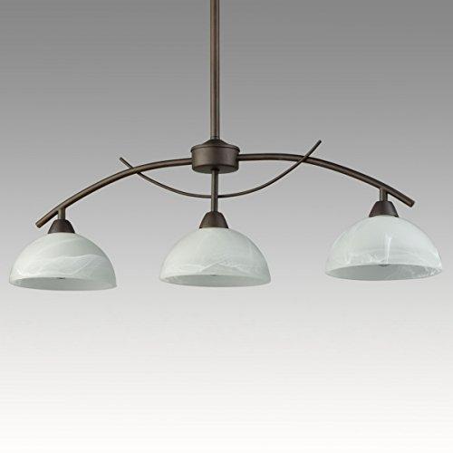 Dazhuan Vintage Frosted Glass Shade Pendant 3 Lights Chandelier Hanging Ceili