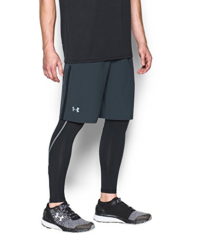 Under Armour Men's Launch 9'' Shorts, Stealth Gray/Reflective, X-Small by Under Armour (Image #2)