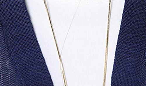 La Primavera Y El Otoño De Dongdaemun Hielo De Manga Larga Ropa De Abrigo Chaqueta De Punto Suéter De Las Mujeres Suelta White