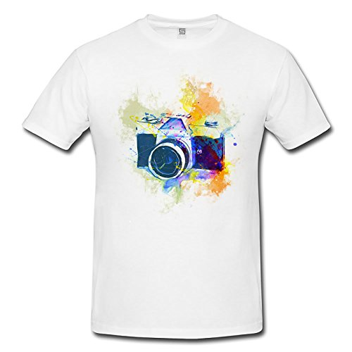 Vintage Camera Herren T- Shirt , Stylisch aus Paul Sinus Aquarell Color