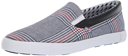 - Ben Sherman Men's Pete Slip On Sneaker Navy Plaid 8 M US