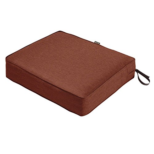 Classic Accessories Montlake Patio FadeSafe Seat Cushion, Henna 25″Wx23″Dx5″T