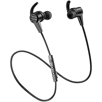 Bluetooth Earphones, SoundPEATS Wireless Magnetic Sport Earphones( Bluethooth 4.1, Hight Fidelity Sound, APTX, 8 Hour Playtime, Secure Fit for Running)-Black
