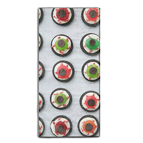 Halloween Eyeball Dessert Washcloth Large Hand Towel 11.8 × 27.5