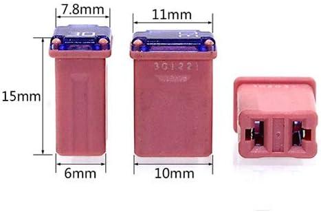 10 Pack 608830 30 Amp Micro Cartridge Fuses FMM MCASE Type