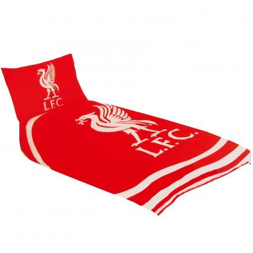 (Official Liverpool FC 'Pulse' Single Duvet Cover and Pillowcase Set)
