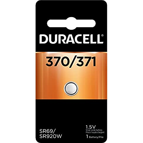 - 419x0cou77L - Duracell – 370/371 1.5V Silver Oxide Button Battery – long-lasting battery – 1 count