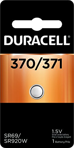Duracell - 370/371 1.5V Silver Oxide Button Battery - long-lasting battery - 1 count