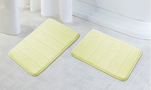 "Drhob 2 Pack - 16""x 24"" Microfiber Memory Foam Bath Mat with"