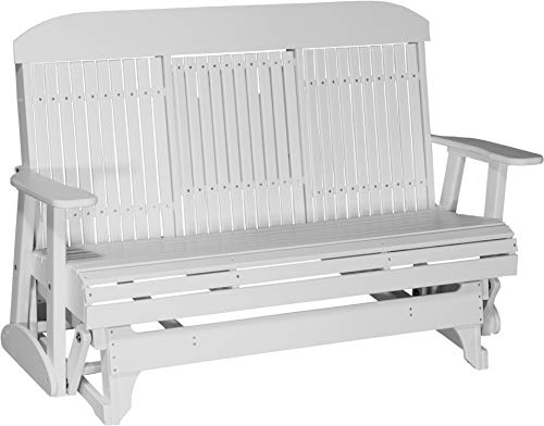 LuxCraft Classic Highback 5ft. Recycled Plastic Patio Glider 5 Foot Classic Glider