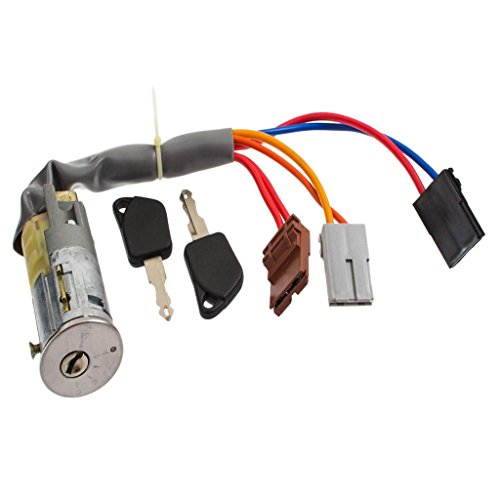 Homyl Complete Door Lock Cylinder + 2 Keys Front Right & Left for Peugeot 306