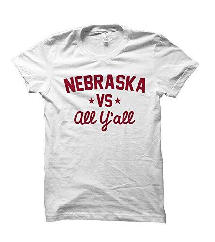 Nebraska Versus All Y'all Collegiate T-Shirt (White, Medium) ()