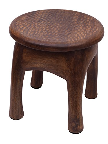 Fathers Day Gifts Vintage Style Wooden Stool Multiutility Hand Carved with Timber Texture  Walnut Finish Sturdy Lightweight Home Kids Room Furniture …