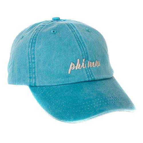 Phi Mu (N) Sorority Baseball Hat Cap Cursive