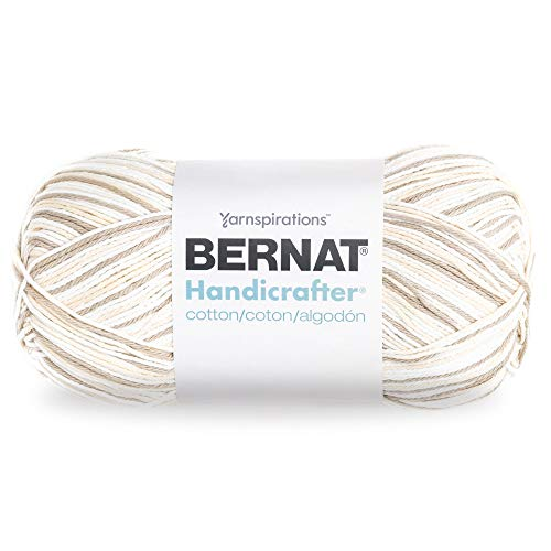 (Bernat Handicrafter Cotton Yarn, Gauge 4 Medium Worsted, Queen Annes Lace)