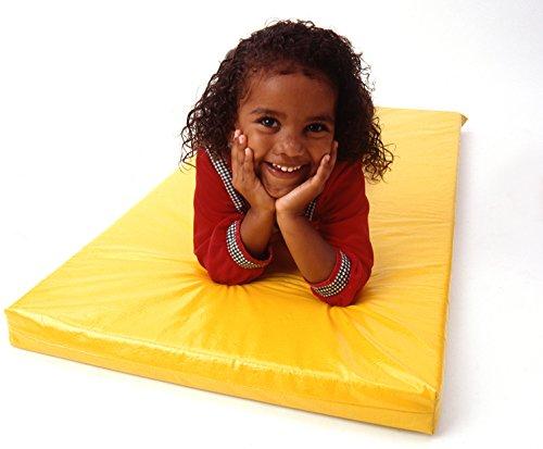 KinderMat, Rainbow Designer Mat, Yellow, 2-Inch Thick Rest Mat ()