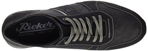 Rieker 19400, Zapatillas para Hombre Negro (Schwarz/rauch/schwarz/schwarz)