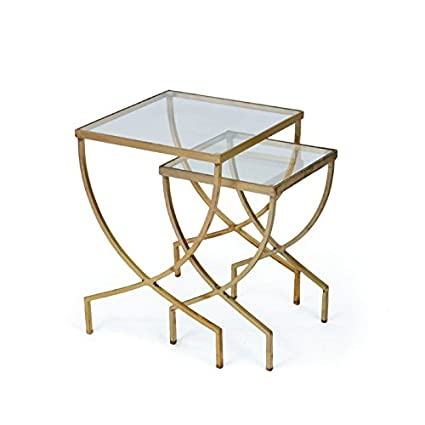 Amazon set of two harvey nesting tables home kitchen set of two harvey nesting tables watchthetrailerfo
