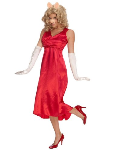 [The Muppets Deluxe Miss Piggy Dress, Red, One Size Costume] (Disney Group Costumes Ideas)