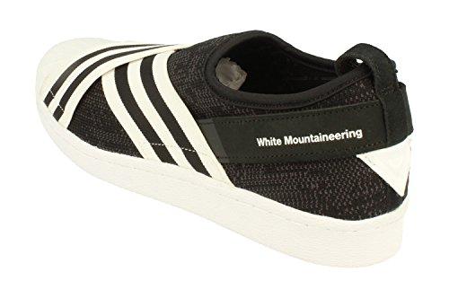 Adidas Originali Bianco Alpinismo Wm Superstar Slip On Pk Scarpe Da Ginnastica Da Uomo Nero Bianco By2880