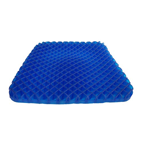 (Gel Seat Cushion Pad Non-Slip Orthopedic Gel Sitter Cushion for Tailbone Pain Office Chair Car Seat Cushion)
