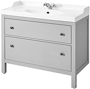 IKEA fregadero armario con 2 cajones, gris 39 3/8 x 19 1/4 x 35 ...