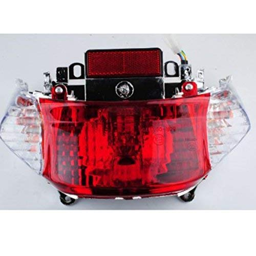 Hot Street GY6 50cc Scooter Tail Light Assembly Chinese Scooter Parts Tao Tao Peace Sports