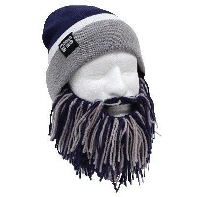 [Tailgate Barbarian Beard, Blue/Grey] (Touchdown Adult Costumes)