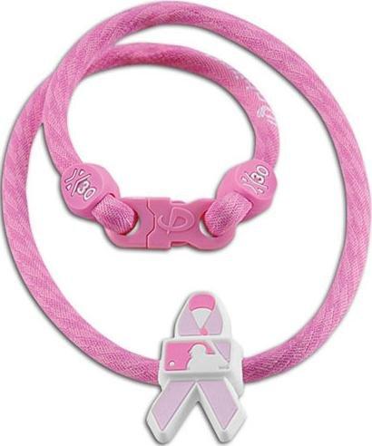 Phiten MLB Pink Ribbon Necklace, 22