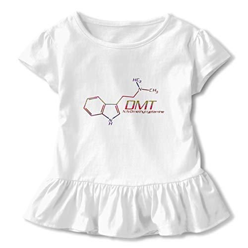 Sheridan Reynolds DMT Color DMT Toddler Girls' T Shirt Cotton Basic Outfit Tee White