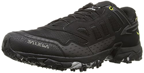 SALEWA Ultra Train Gore-Tex-Bergschuh Herren, Scarpe Sportive Outdoor Uomo Multicolore (Black/Swing Green)