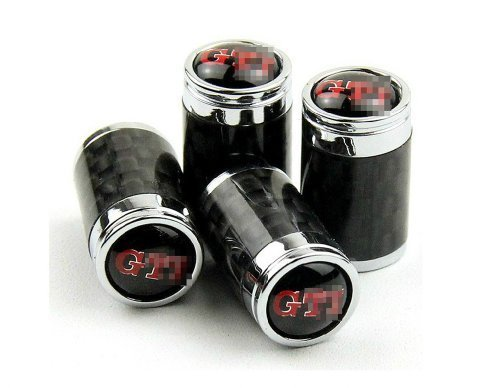 Harvard kid DIY Car Parts Carbon Fiber Metal Wheel Tires Air Valve Stems Caps for VW Volkswagen All Model GTI