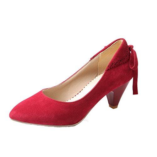 Correct Légeres Aux Shoes Tire Rouge Talon Suede Ageemi Chaussures À Femmes Zpzx050