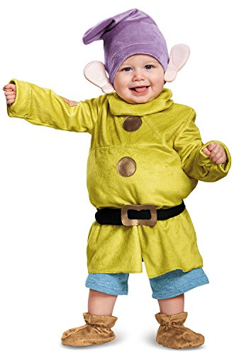 Deluxe Dopey Baby Infant Costume - Baby 6-12 -